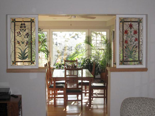Красивые витражные окна