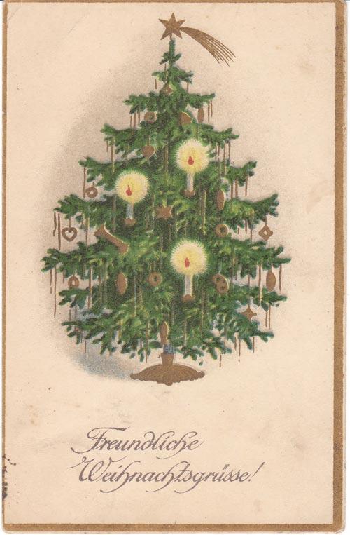 Новогодняя елка открытки старинные