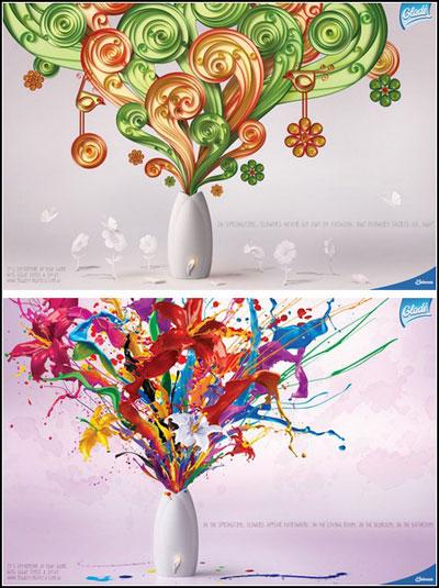 Реклама цветов и цветы в рекламе