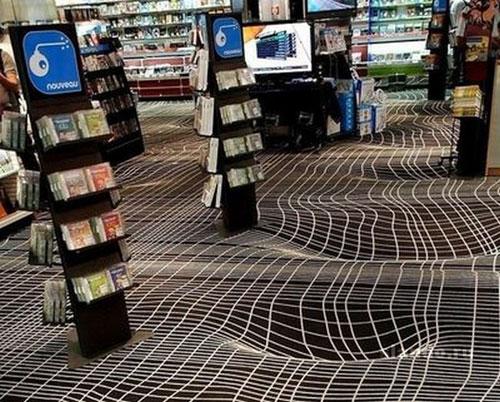 Объемный арт на полу