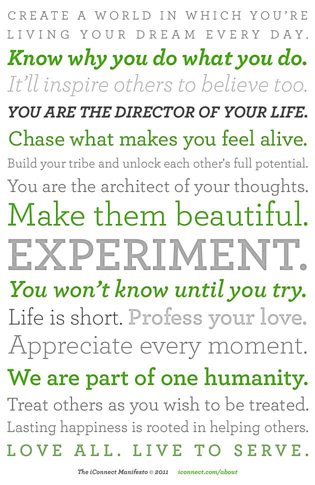 Представляем Вам перевод манифеста от компании iContact — The iConnect Manifesto.