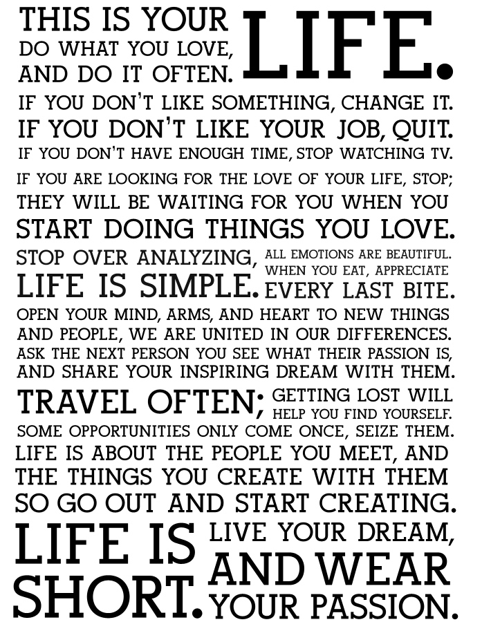 The Holstee Manifesto — манифест вашей жизни