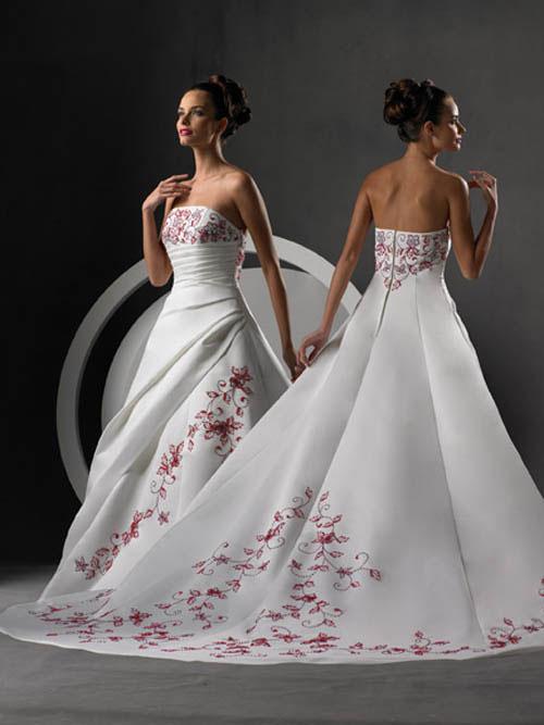 Свадебные платья с цветами