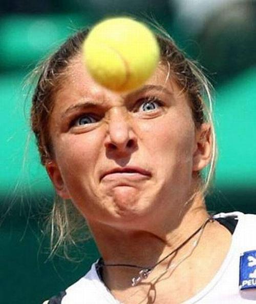Веселые моменты в теннисе