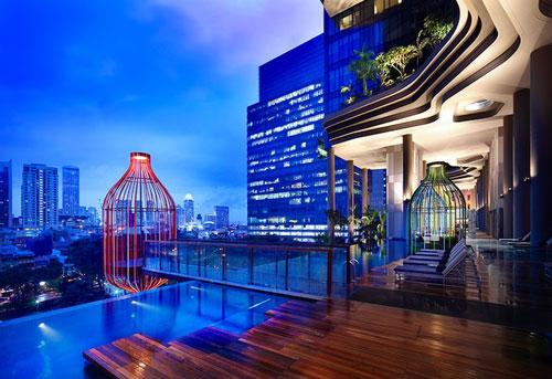 Отель-сад PARKROYAL в Сингапуре