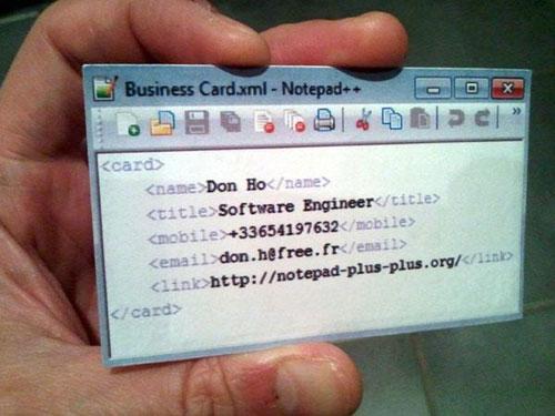 Необычные современные визитки