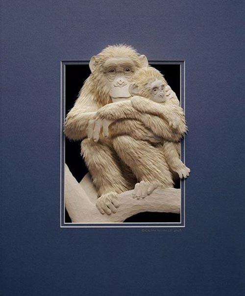 Скульптуры, рождённые из бумаги