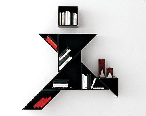 Стильные книжные шкафы