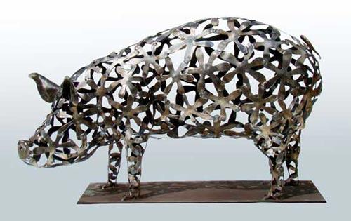 Красивые скульптуры из металла