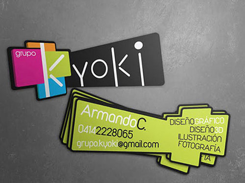 Необычные формы визиток