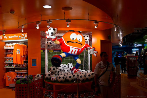 Магазин M&M's World в Лондоне
