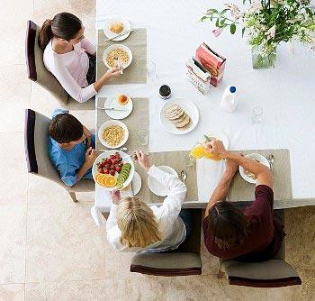 Как направить семью на правильное питание