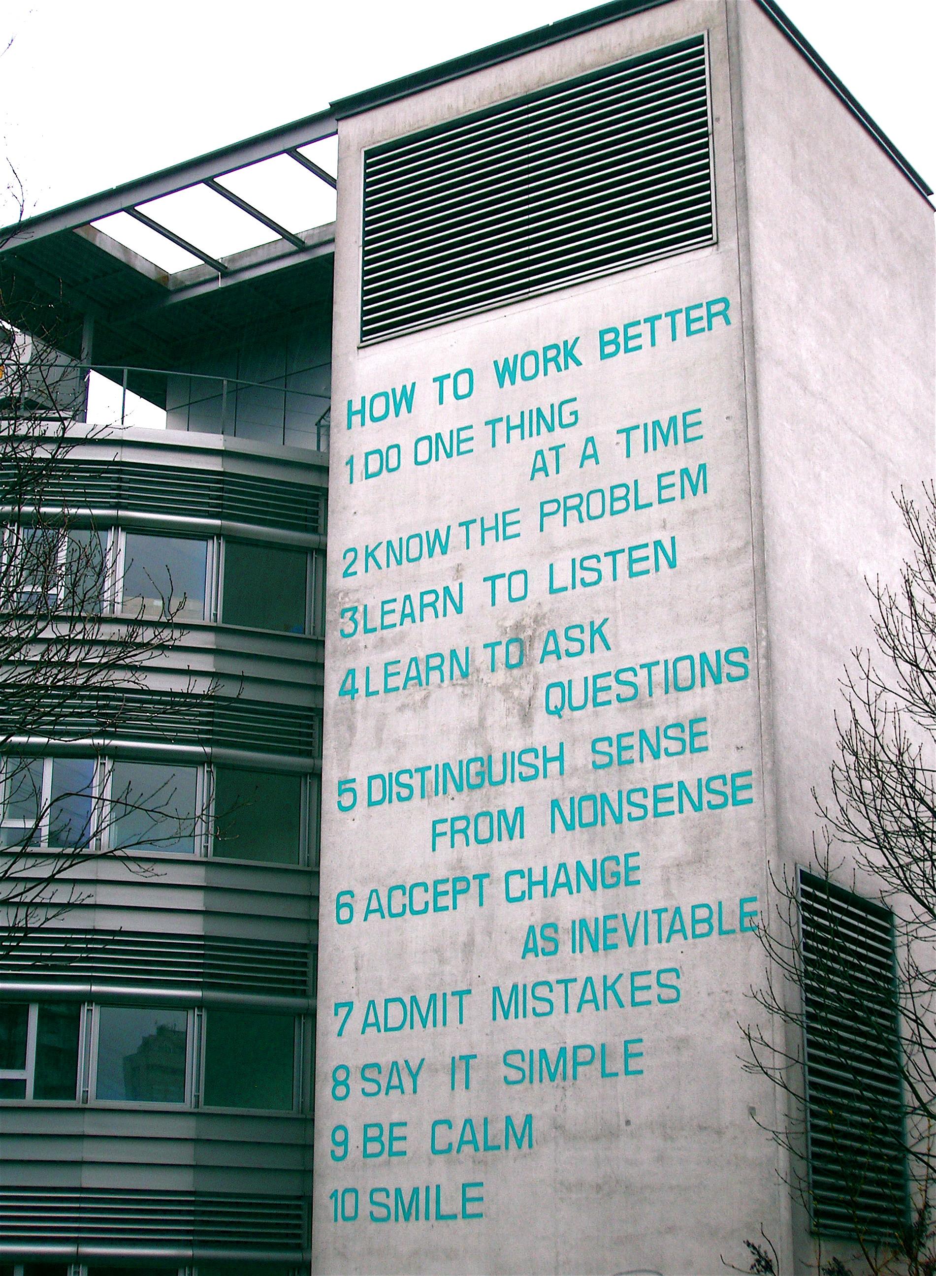 Манифест Fischli & Weiss — «Как работать лучше»